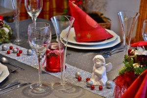 Vánoční stůl prostírání