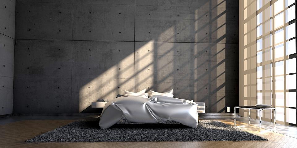 Jednoduchá a moderní postel