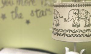 Noční lampička se slony