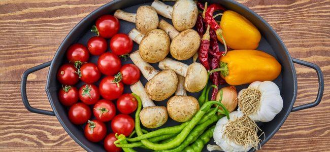 Pečící pánev se zeleninou