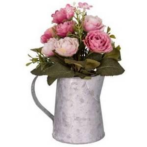 Šedobílá váza s květinami