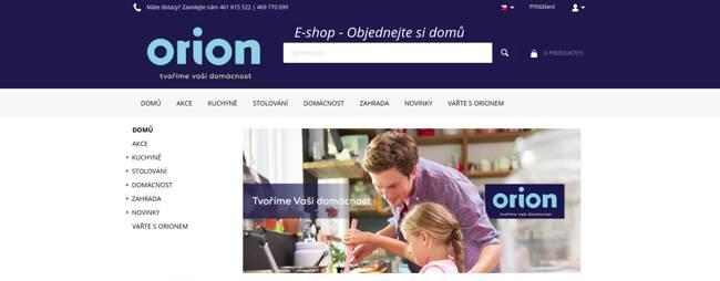 Orion domácí potřeby e-shop