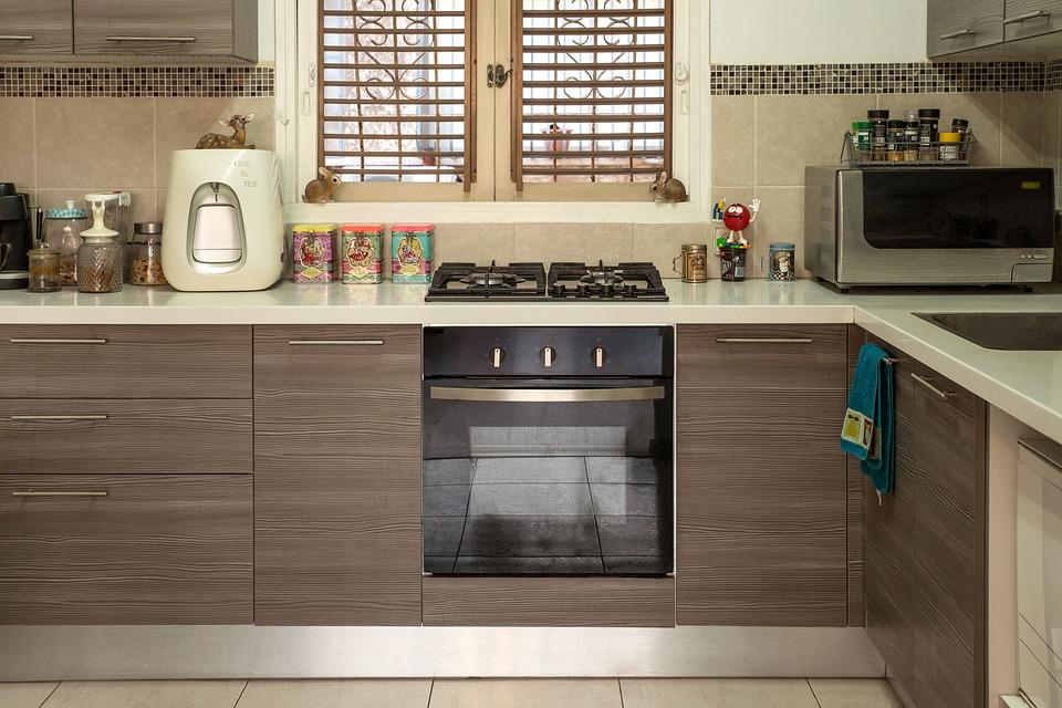Kuchyně s plynovým sporákem