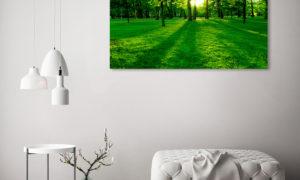 Jarní obrazy vytištené na skle
