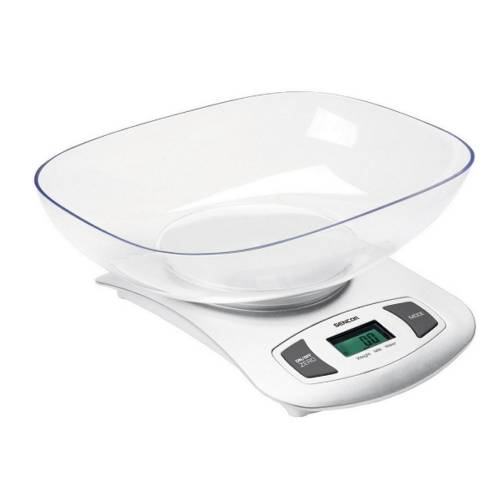 Digitální kuchyňská váha Sencor SKS 4001WH