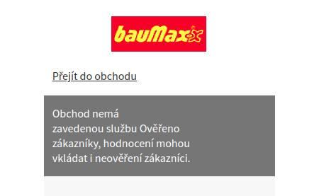 Baumax.cz Heureka