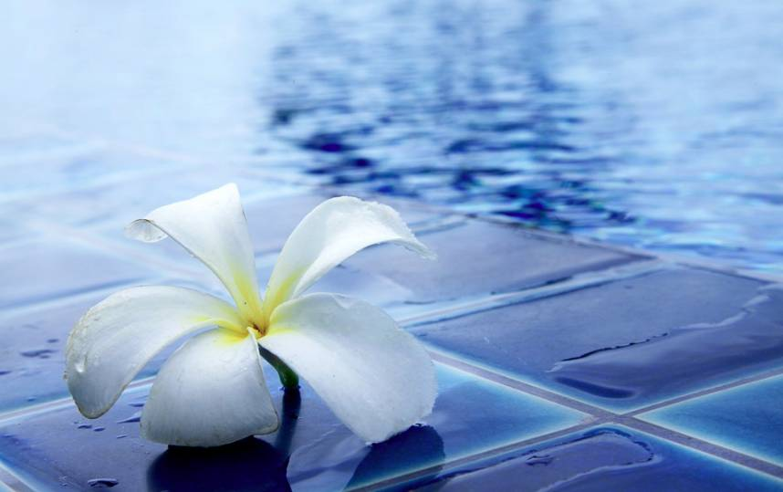Dokonalá voda v bazénu je čistá a zdravá