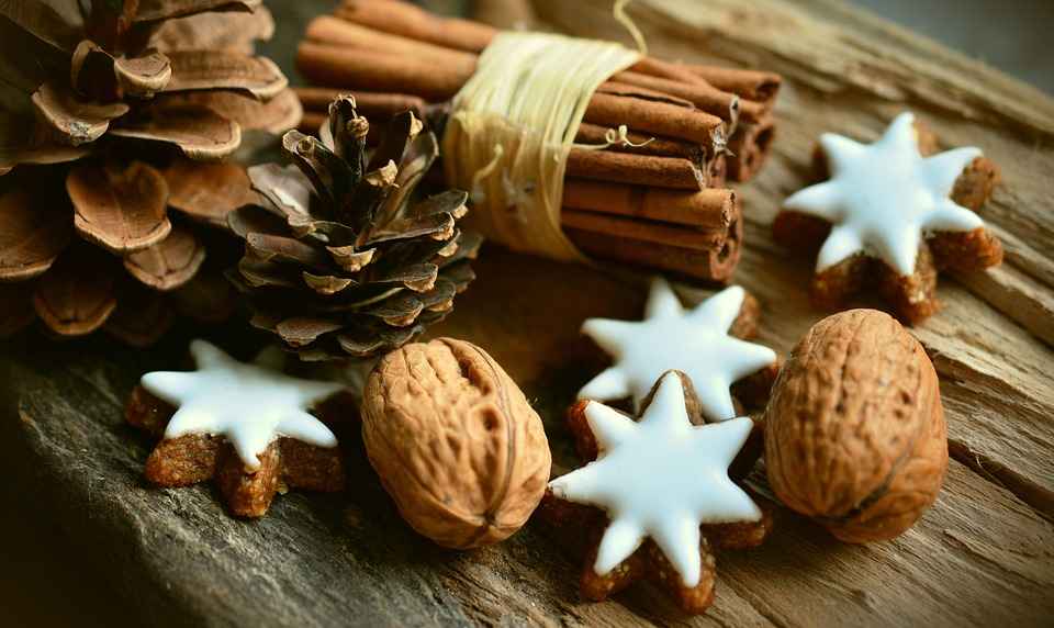 Vánoční dekorace skořice