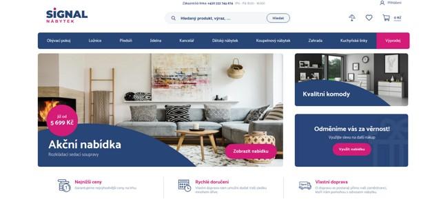 SIGNAL-nábytek.cz e-shop