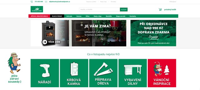 ZahradaJežek.cz e-shop