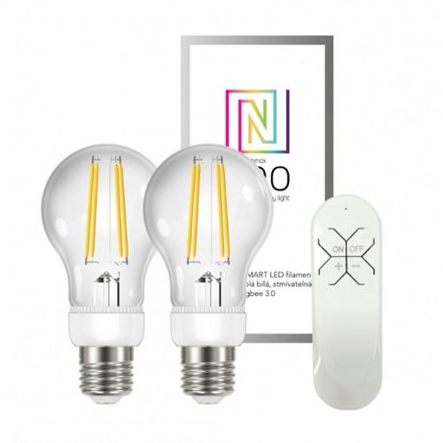Immax NEO sada 2x LED filamentová žárovka + ovladač