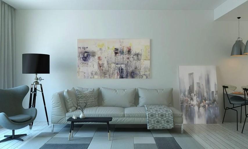 Moderní stojací lampa do obývacího pokoje
